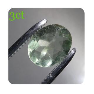 3ct ライトグリーンフローライト 天然石 ルース DIY 素材 3195
