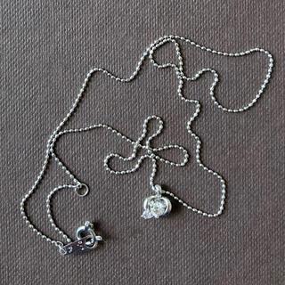 Courreges - クレージュ プラチナダイヤモンドネックレス ピンクダイヤモンド