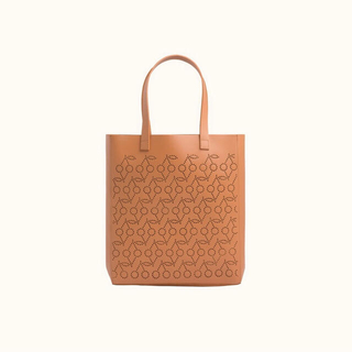 Bonpoint - 【新品タグ付】ボンポワン チェリー パンチングレザーバッグ  キャラメル