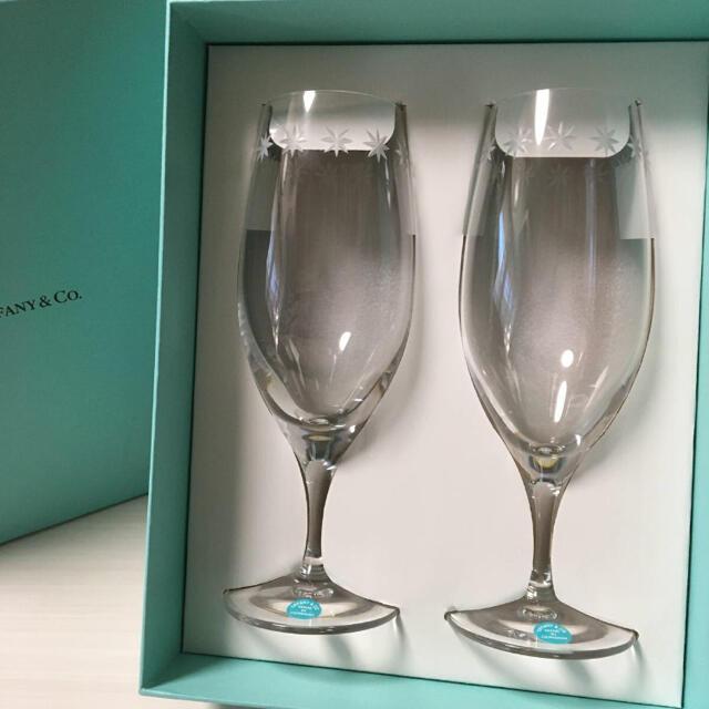 Tiffany & Co.(ティファニー)のティファニー Tiffany&Co. ルミナス ピルスナーグラス ペア インテリア/住まい/日用品のキッチン/食器(グラス/カップ)の商品写真