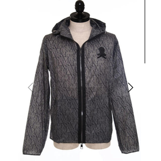 MARK&LONA - マークアンドロナ ウィンド フーディ 黒系 美品 サイズ46 M