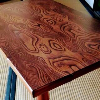 高級座卓 120 昭和レトロ アンティーク ちゃぶ台 長机 座卓 折り畳み 木製