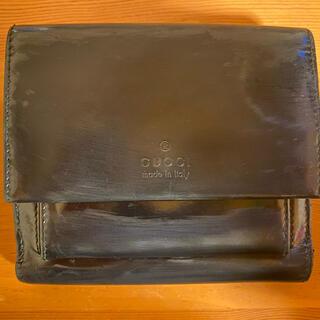 Gucci - GUCCIエナメル二つ折り財布