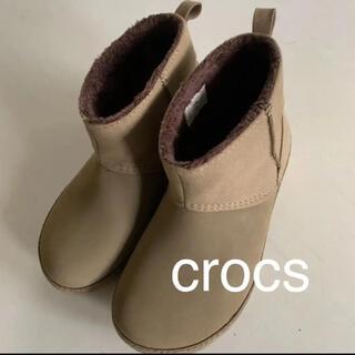 crocs - crocs クロックス ボア ショートブーツ