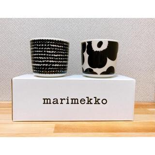 marimekko - マリメッコ シイルトラプータルハ ウニッコ ブラック・ホワイト ラテマグ