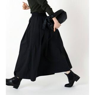 イエナ(IENA)の2021AW  IENA   DOTジャガードタックスカート(ロングスカート)