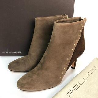 ペリーコ(PELLICO)の37 PELLICO ショートブーツ ブラウン ペリーコ  24 スエード(ブーツ)