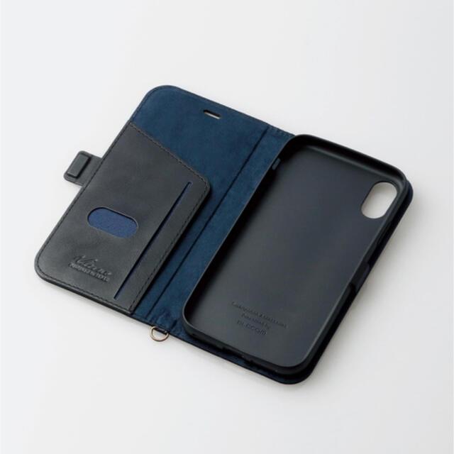 ELECOM(エレコム)のiPhone XR ケース 手帳型 レザー サイドマグネット スタンド ブラック スマホ/家電/カメラのスマホアクセサリー(iPhoneケース)の商品写真