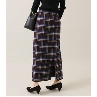 イエナ(IENA)の2021AW  IENA   チェックタイトスカート(ロングスカート)