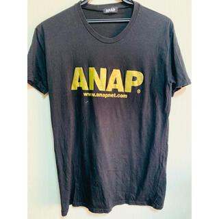 アナップ(ANAP)の【アナップ】ゴールドロゴシンプル黒半袖Tシャツ♪ANAP(Tシャツ(半袖/袖なし))