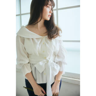 snidel - Her lip to♡美品即日発送Belted Cotton Blouse