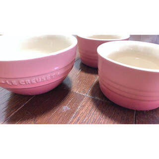 LE CREUSET - ル・クルーゼ ピンク ボウル セット
