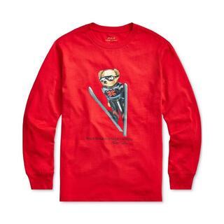 ポロラルフローレン(POLO RALPH LAUREN)の新品ポロラルフローレン/スキージャンプベアが可愛い♪長袖Tシャツ6 (120)(Tシャツ/カットソー)
