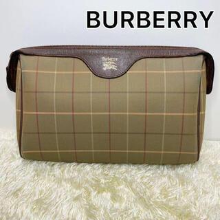 BURBERRY - 【美品】Burberry バーバリー クラッチバッグ セカンドバッグ レザー