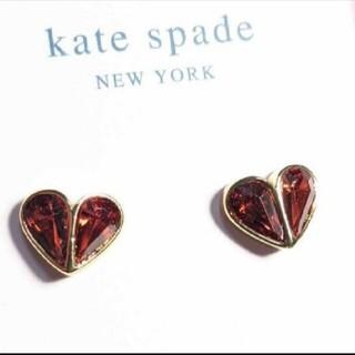 kate spade new york - 【新品】kate spad ケイトスペード ピアスレッドロックソリッドストーン