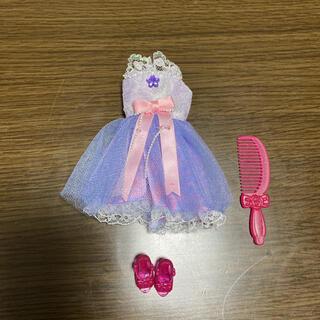 タカラトミー(Takara Tomy)のリカちゃん 紫ドレス&靴&ブラシ(ぬいぐるみ/人形)