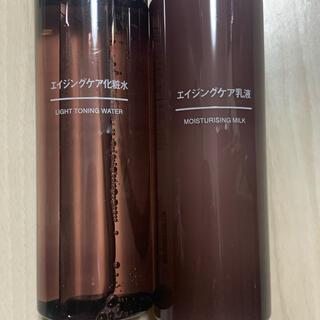 MUJI (無印良品) - 無印良品 エイジングケア化粧水400mlと乳液セット MUJI