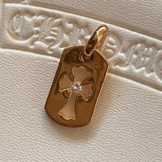 Chrome Hearts - クロムハーツ 定価40万円 カットアウトクロス ドッグタグ ダイヤモンド 22k