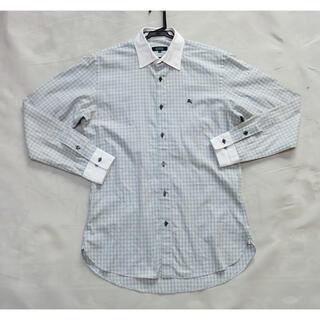バーバリーブラックレーベル(BURBERRY BLACK LABEL)のBURBERRY バーバリーブラックレーベル チェックと白のクレリックシャツ(シャツ)