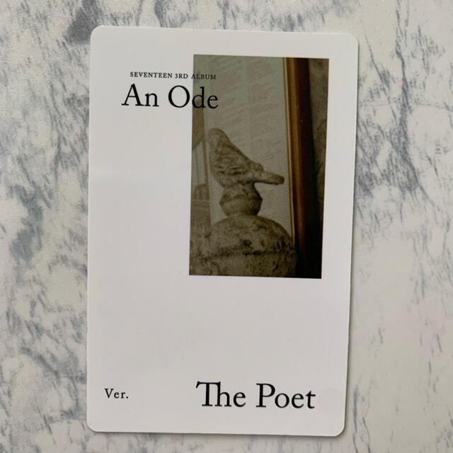 SEVENTEEN(セブンティーン)のSEVENTEEN An Ode The Poet Ver. トレカ  エンタメ/ホビーのタレントグッズ(アイドルグッズ)の商品写真