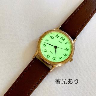 ALBA - ALBA レディースクォーツ腕時計 蓄光あり 稼動品 ベルト未使用