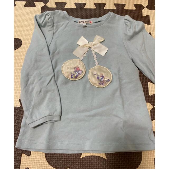 anyFAM(エニィファム)のエニィファムキッズ トップス 100 キッズ/ベビー/マタニティのキッズ服女の子用(90cm~)(Tシャツ/カットソー)の商品写真