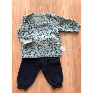 ユニクロ(UNIQLO)のユニクロ キルトパジャマ 長袖 80サイズ(パジャマ)