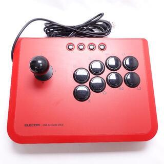 エレコム(ELECOM)のELECOM PS3用アーケードコントローラー レッド(その他)