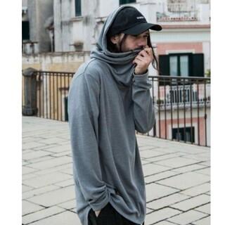 glamb - 未使用 Jagger drape hoodie ドレープ フード パーカー