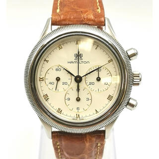 Hamilton - 美品 HAMILTON ハミルトン レマニア1873  クロノグラフ 時計