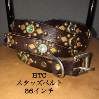 ハリウッドトレーディングカンパニー(HTC)のHTCナロースタッズベルト ダークブラウン(ベルト)