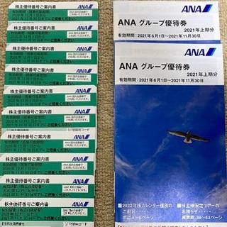 エーエヌエー(ゼンニッポンクウユ)(ANA(全日本空輸))のANA 全日空 全日本空輸 株主優待券 10枚 + 冊子 2冊⑨(その他)