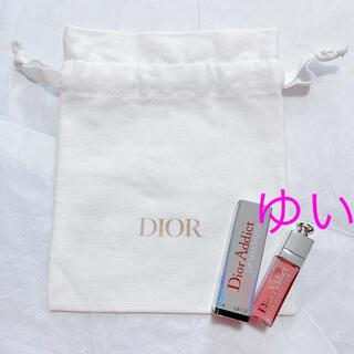 ディオール(Dior)のディオールポーチ巾着ノベルティミニグロスアディクトリップマキシマイザーミニサイズ(リップグロス)