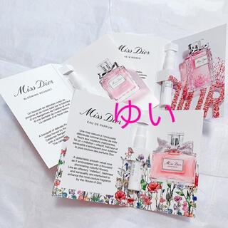 ディオール(Dior)の新ミスディオールオードゥパルファンローズ&ローズブルーミングブーケ香水サンプル(香水(女性用))