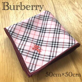 BURBERRY - Burberry バーバリー ハンカチ ピンク チェック