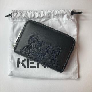 KENZO - KENZO ケンゾー コインケース タイガーフェイス レザー ブラック