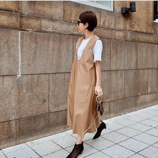 ドゥーズィエムクラス(DEUXIEME CLASSE)の美品♡machatt エコレザー ワンピース マチャット ジャンパースカート (ロングワンピース/マキシワンピース)