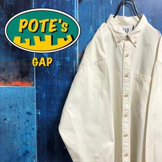 ギャップ(GAP)の【オールドギャップGAP】ポケットエンブレム刺繍ロゴボタンダウンシャツ 90s(シャツ)