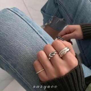 Ameri VINTAGE - 197◇ デザイン シルバー リング 3点set silver925