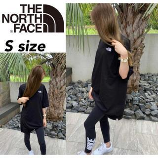 ザノースフェイス(THE NORTH FACE)のノースフェイス Tシャツ ドレス NF0A55AP ワンピース ブラック S(ひざ丈ワンピース)