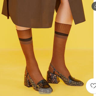 FENDI - FENDI フェンディ 靴下 ブラウン