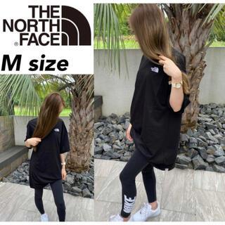 ザノースフェイス(THE NORTH FACE)のノースフェイス Tシャツ ドレス NF0A55AP ワンピース ブラック M(ひざ丈ワンピース)