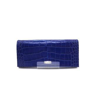 ロンシャン(LONGCHAMP)のLONGCHAMP(ロンシャン) 型押しレザーウォレット レディース 長財布(財布)