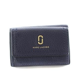 MARC JACOBS - マークジェイコブス 財布 三つ折り レザー 紺 ネイビー M0015413