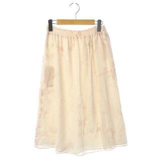 クロエ(Chloe)のクロエ CHLOE COLLECTION フレアスカート 2 アイボリー(ロングスカート)