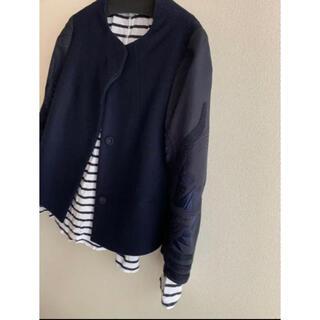 マメ(mame)のmame  11aw  ジャケット 紺 刺繍(ブルゾン)