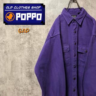 ギャップ(GAP)のギャップデニムGAP☆カナダ製フラップ付きダブルポケットメタルボタンワークシャツ(シャツ)
