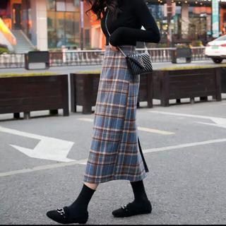 フレイアイディー(FRAY I.D)の新品💕 チェック タイトスカート ロングスカート (ロングスカート)
