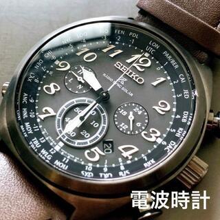 SEIKO - 新品●SEIKO 電波ソーラー プロスペックス 革バンド セイコー メンズ腕時計