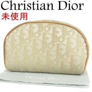 ディオール(Dior)のディオール 未使用 ヴィンテージ トロッター キャンバス 化粧 ポーチ(ポーチ)